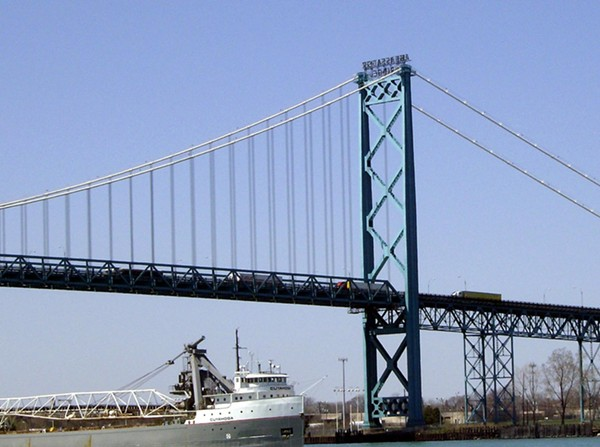 Ambassador Bridge. - VIA WIKIMEDIA COMMONS