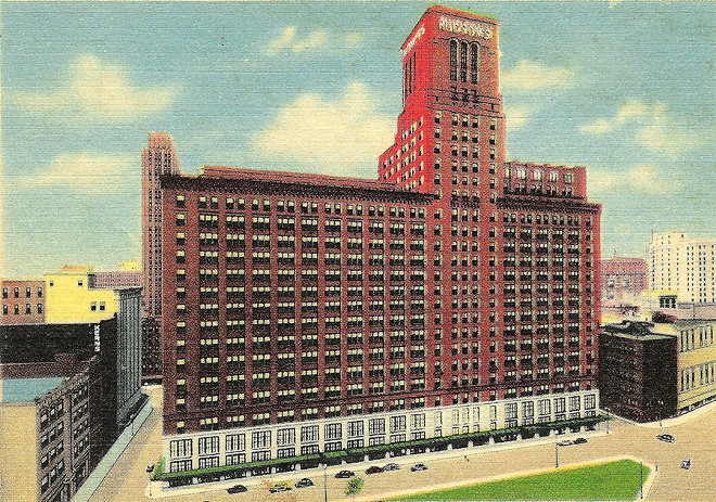 A rendering of the Hudson's Department Store location in downtown Detroit.