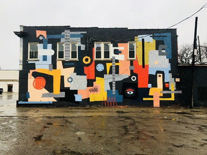 Mural by Ellen Rutt on West Vernorn Hwy in Detroit. - VIRANEL CLERARD
