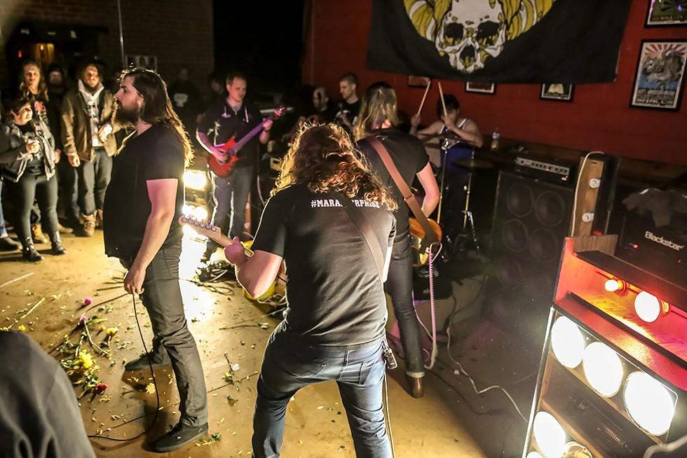The Armed play Small's Bar in Hamtramck in 2016. - CHUCK MARSHAL/LIFEINMICHIGAN.COM