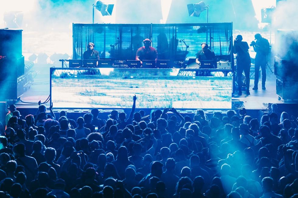 The Belleville Three performing at Movement Music Festival in 2017. - DOUGLAS WOJCIECHOWSKI/PAXAHAU