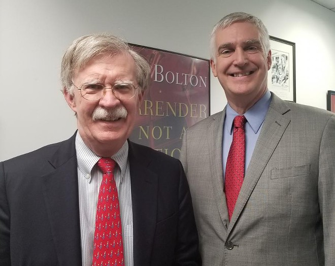 John Bolton and Fred Fleitz. - PHOTO VIA FREDFLEITZ.COM