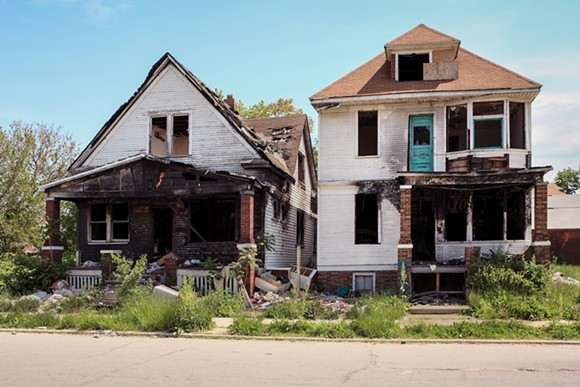 Abandoned buildings in Detroit. - SHUTTERSTOCK