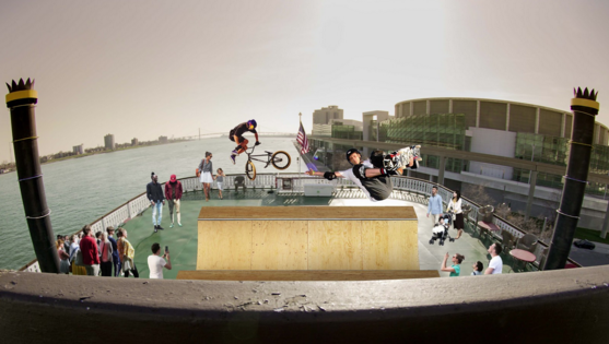 Artist's rendering of what it will look like when there is a half-pipe on the Detroit Princess. - COURTESY PHOTO