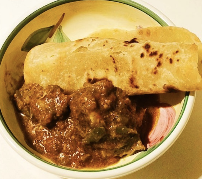 Capati with beef stew breakfast dish. - FACEBOOK