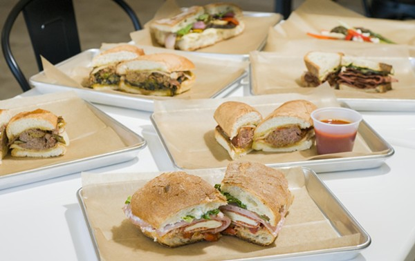 Sandwiches at Rocco's - TOM PERKINS