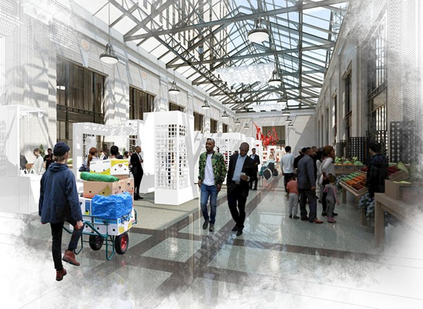 A rendering of Ford's rehabbed Michigan Central Station. - COURTESY PHOTO