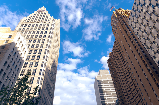 Jobs live inside these Detroit buildings. - SHUTTERSTOCK