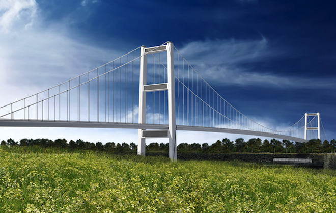 One conceptual image of the proposed Gordie Howe International Bridge. - COURTESY WINDSOR DETROIT BRIDGE AUTHORITY: CONCEPTUAL IMAGE ONLY