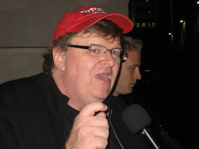 Filmmaker Michael Moore. - SHUTTERSTOCK
