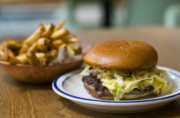 A burger from Lovers Only. - TOM PERKINS