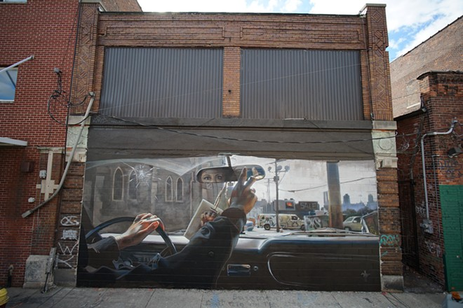 A mural by Case McClaim in Detroit's Eastern Market. - COURTESY OF MURALS IN THE MARKET