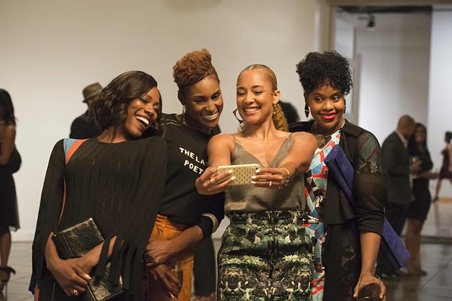 """"""" - Insecure"""" Yvonne Orji, left, Issa Rae, Amanda Seales and Natasha Rothwell - JUSTINA MINTZ/HBO"""