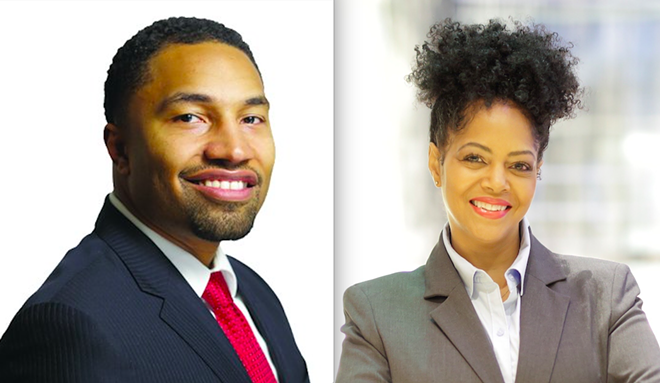State Senate candidate Adam Hollier and House candidate Karen Whittset are backed by Detroit Mayor Mike Duggan.