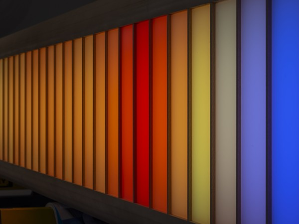"""A model of Detroit Skybridge, a new art installation that will transform the pedestrian bridge into """"a floating bar of light hovering over the streets of downtown Detroit."""" - COURTESY PHOTO"""