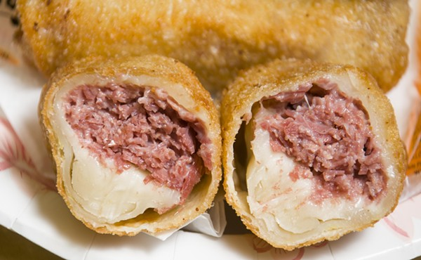 Egg rolls from Asian Corned Beef. - TOM PERKINS