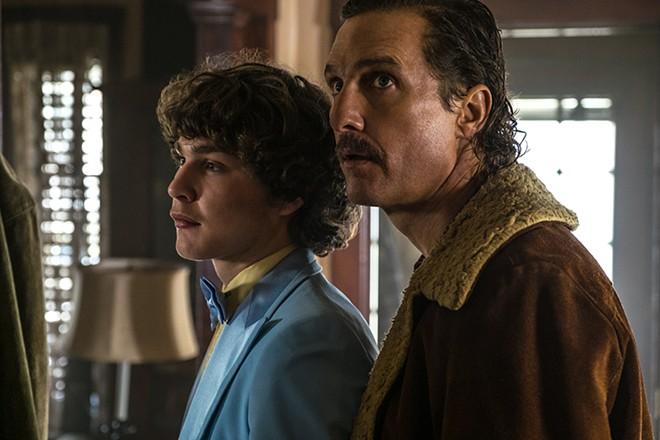 Richie Merritt and Matthew McConaughey play Richard Wershe Jr. and Sr. in White Boy Rick. - SCOTT GARFIELD/CTMG CORP./SONY PICTURES