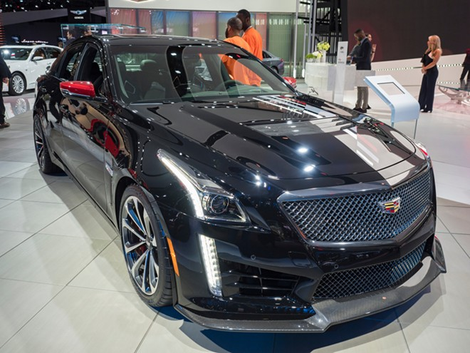 The Cadillac CTS-V IMSA Championship Edition appeared at the North American International Auto Show at the Cobo Center in downtown Detroit in January 2018. - ED ALDRIDGE VIA SHUTTERSTOCK