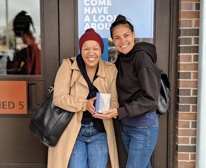 The Farmer's Hand owners Kiki Louya and Rohani Foulkes pictured with their Food Power Award. - THE FARMER'S HAND/INSTAGRAM