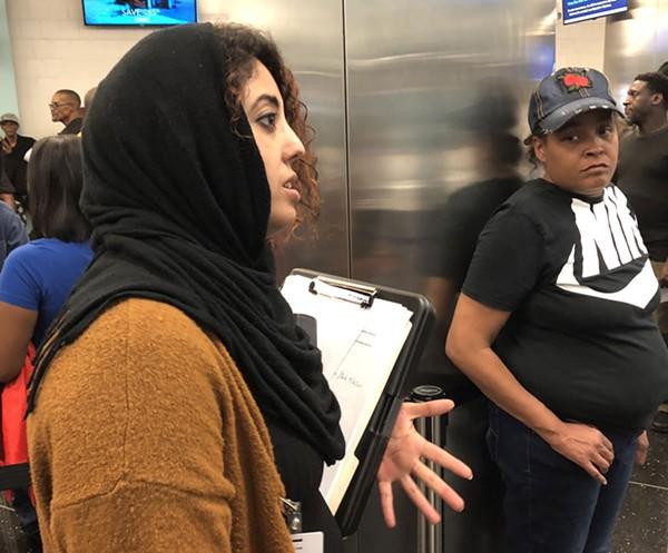 Rasha Almulaiki in Detroit's 36th District Court House. - SAMUEL COREY