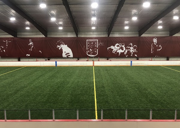 One of the pitches at Detroit City FC's new fieldhouse in Elmwood Park - LINDSEY PEHRSON