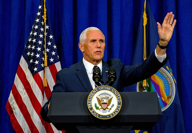 A compromising pose for Mr. Vice President. - VIA SHUTTERSTOCK
