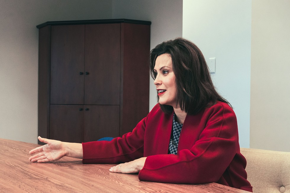Gretchen Whitmer at her Detroit campaign office. - NOAH ELLIOTT MORRISON