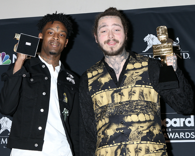 21 Savage, Post Malone - KATHY HUTCHINS/SHUTTERSTOCK