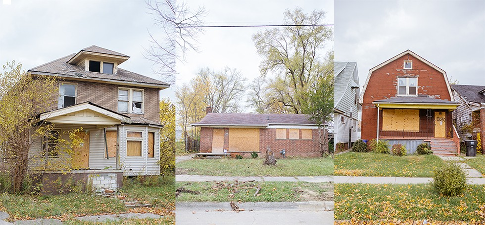 According to the Detroit Land Bank Authority, these houses aren't blighted. - KATHERINE RAYMOND