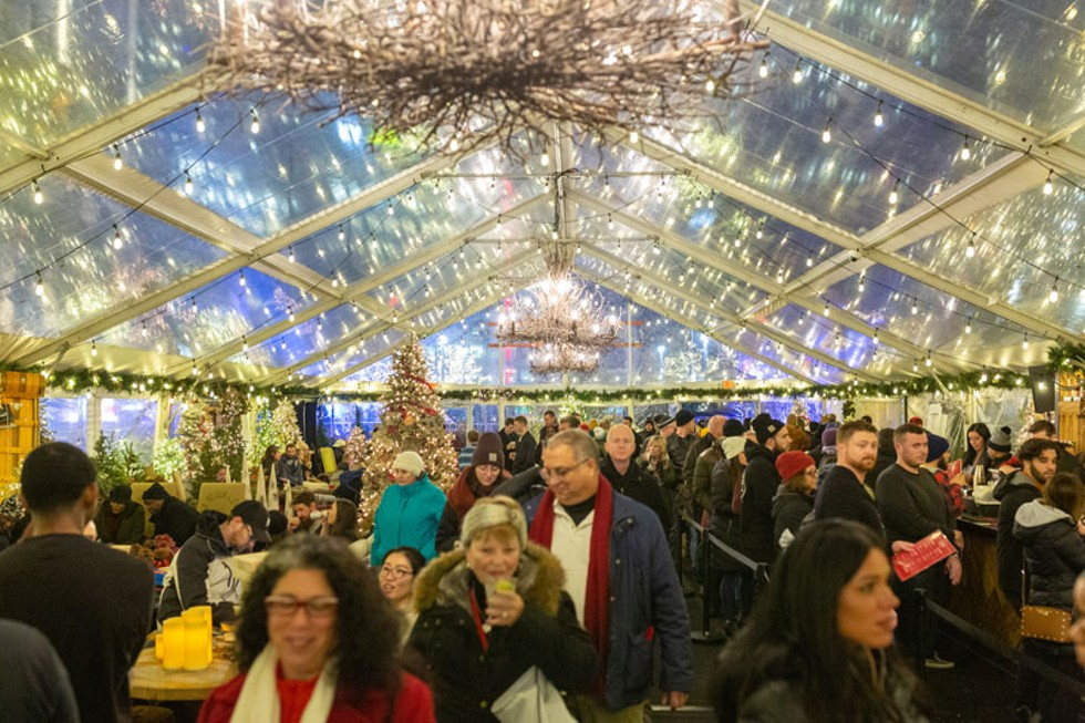Downtown holiday markets at Capitol Park and Cadillac Square. - COURTESY OF BEDROCK