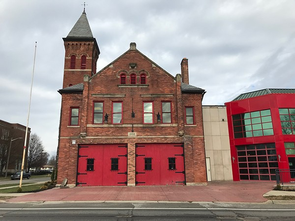 The Michigan Firehouse Museum is very haunted, ghost hunters say. - ALEX TINSLEY