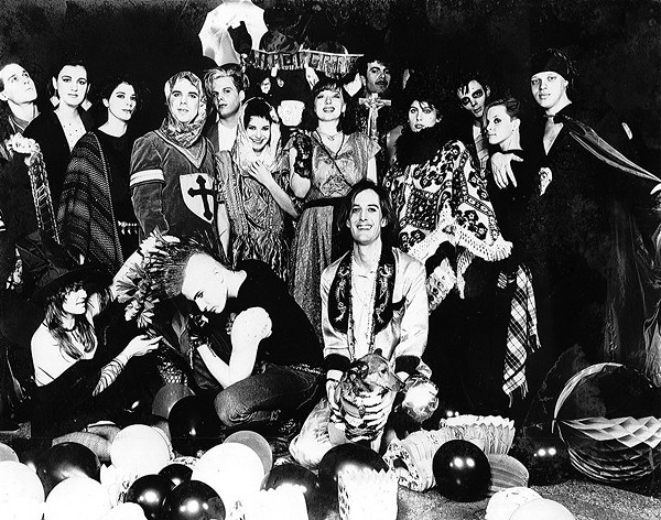 Stirling and friends in an ad for Liedernacht (originally appearing in Metro Times in February 1985). - LUIS G.