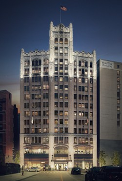 A rendering of the Element Hotel in the Metropolitan Building. - PHOTO COURTESY OF VANDYE & HORN PUBLIC RELATIONS