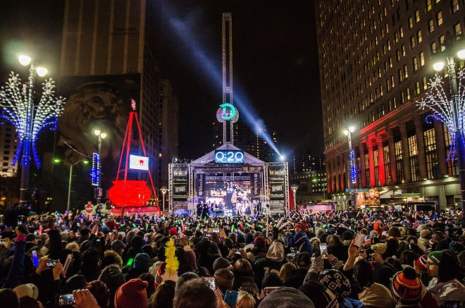 """""""The Drop"""" when it was last held at Campus Martius Park. - COURTESY OF THE DROP MOTOR CITY NYE"""