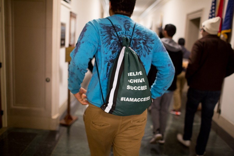 Youth from Tlaib's district walk the halls of the congressional offices for the first time after traveling from Michigan to see Rashida Tlaib sworn in to the 116th Congress. - ERIK PAUL HOWARD