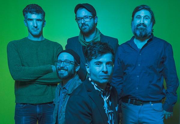 The High Strung (clockwise from top left): Derek Berk, Josh Malerman, Mark Owen, Stephen Palmer, and Chad Stocker. - DOUG COOMBE