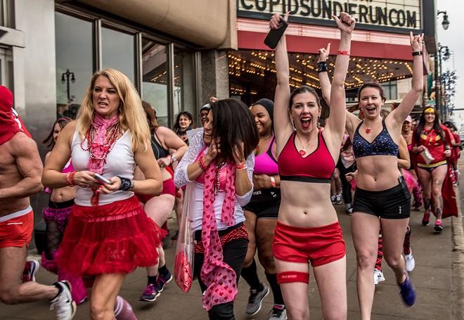 Cupid's Undie Run. - JESSE BARCEGA