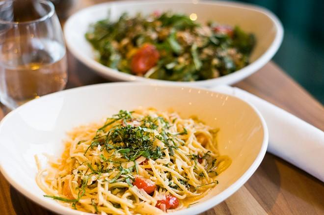 The Rustic Tomato dish at Beacon Park's Lumen restaurant. - TOM PERKINS