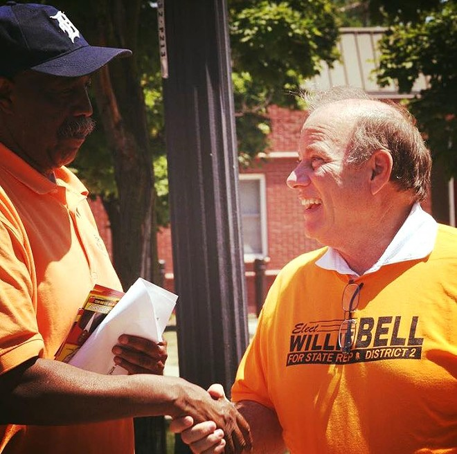Willie Bell with Mayor Duggan. - VIA FACEBOOK