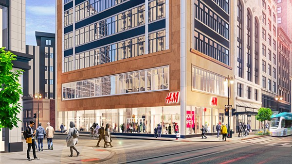 H&M will span three Albert Kahn designed buildings - RENDERING COURTESY BEDROCK