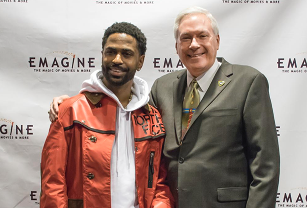 Big Sean and Emagine CEO Paul Glantz. - EMAGINE ENTERTAINMENT INC.