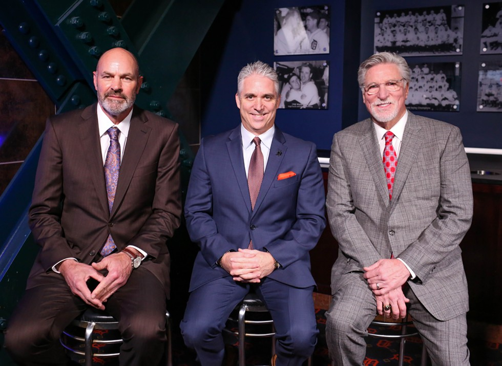 Kirk Gibson, Matt Shepard, and Jack Morris. - COURTESY FOX SPORTS DETROIT
