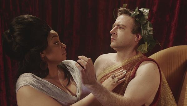 "l-r Raven Symoné as Nichelle Nichols & Derek Waters as William Shatner - ""Game Changers"" - COMEDY CENTRAL"