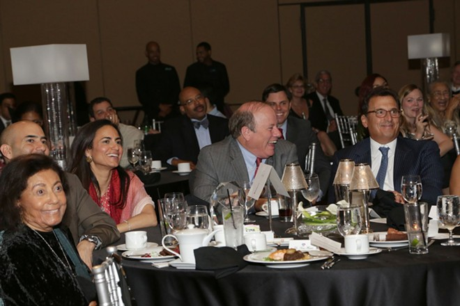 Dr. Sonia Hassan, left, with Mayor Mike Duggan, at a Make Your Date fundraiser. - MAKE YOUR DATE