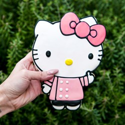 A fucking sick Hello Kitty cookie. - COURTESY