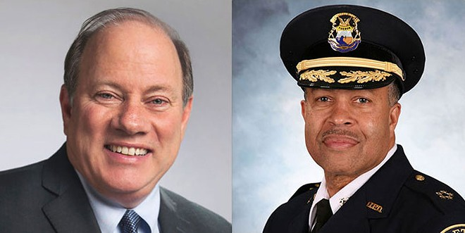 Mayor Mike Duggan and Police Chief James Craig. - COURTESY CITY OF DETROIT