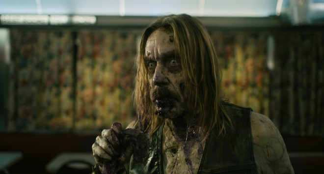 Iggy Pop as a zombie in Jim Jarmusch's The Dead Don't Die. - ABBOT GENSER / FOCUS FEATURES