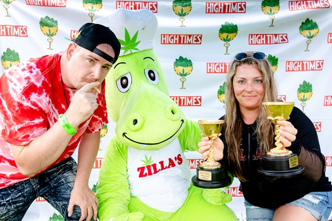 Zilla's Performance Products earned a number of awards at the 2019 High Times Cannabis Cup. - RICK THOMPSON