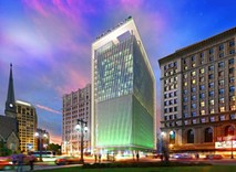 Rendering of Chemical Bank's new headquarters. - CHEMICAL BANK