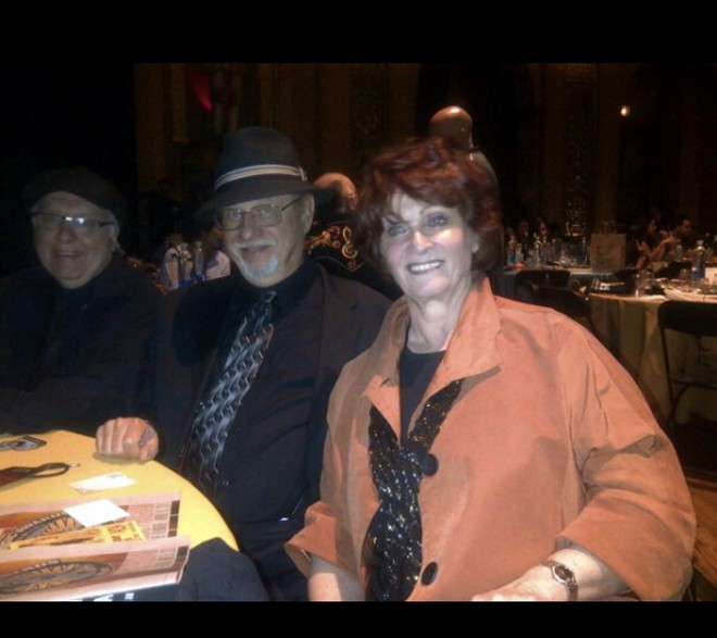 Millie Coffey with husband Dennis Coffey at the Detroit Music Awards. - COURTESY OF THE FAMILY OF MILLIE COFFEY
